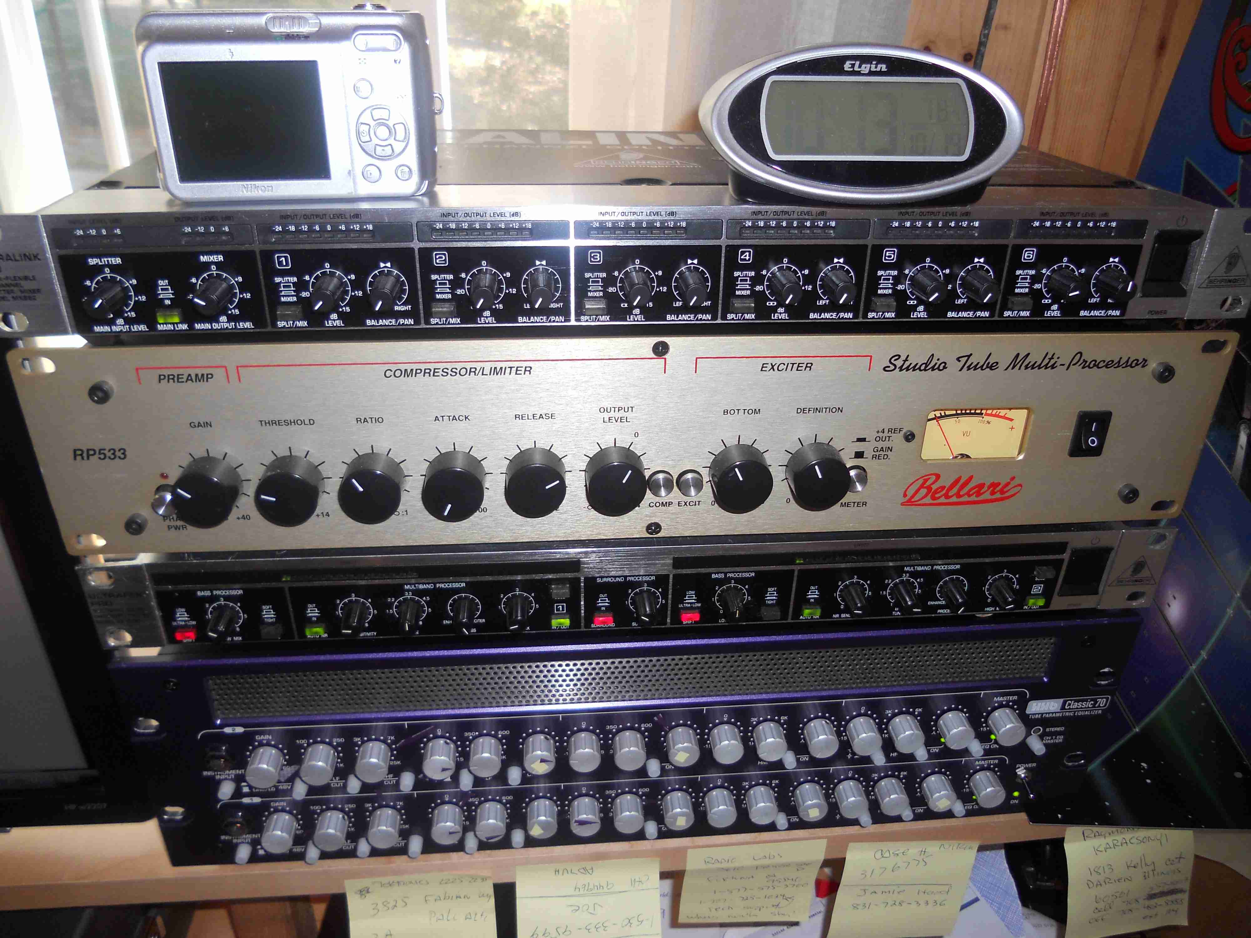 The Other Old KJ6RDK Voodoo Audio Rack!